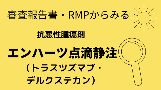 審査報告書・RMPからみるエンハーツ点滴静注
