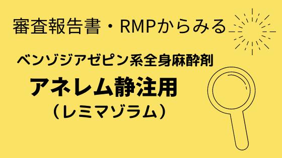 審査報告書・RMPからみるアネレム静注用